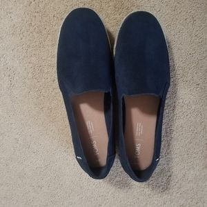 TOMS Palma Navy Suede shoes size 10